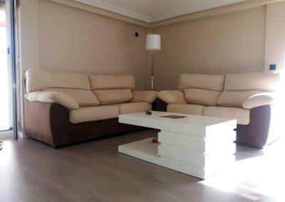 Mesa artesana blanca Serforma