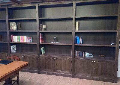 Serforma librería a medida madera wengue 01